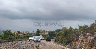 Χανιά: Προσοχή υποχώρησε το βουνό στο κεντρικό δρόμο Σούδα - Ακρωτήρι (φωτο)