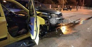 Χανιά: Σφοδρή σύγκρουση δύο αυτοκινήτων στην είσοδο του Πολυτεχνείου Κρήτης (φωτο)