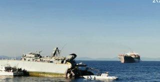 Πλοίο του Πολεμικού Ναυτικού συγκρούστηκε με εμπορικό και βυθίζεται! (φωτο)