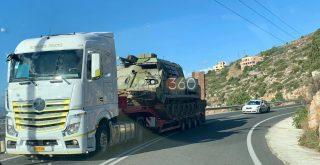 Χανιά: Μεταφορά τεθωρακισμένων αρμάτων στην εθνική (φωτο)