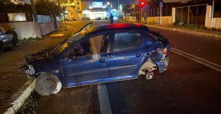 Χανιά: Aυτοκίνητο έγινε σμπαραλια στην Σούδα (φωτο)