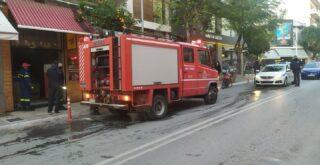 Χανιά: Κινδύνεψε μπεργκεράδικο στο κέντρο της πόλης (φωτο)